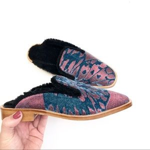 Free People Fur Lined Mules